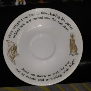 Wedgewood Peter rabbit saucer only rare